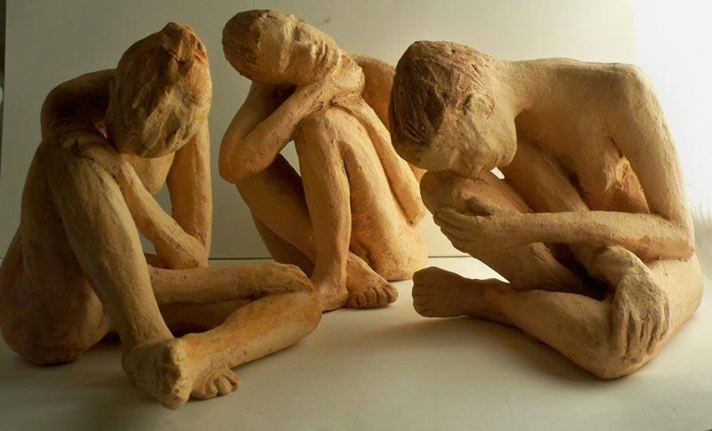 sandra jones, female figure sculptures $200 each