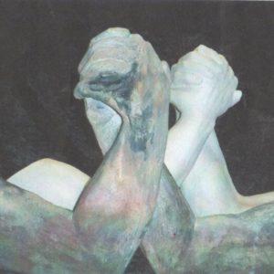sandra jones arm wrestle sculptures