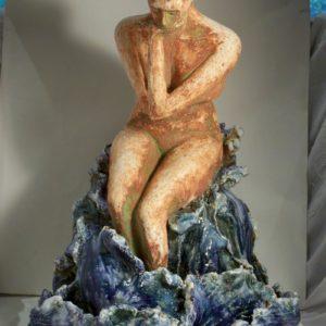 sandra jones award winning sculpture, female figuire