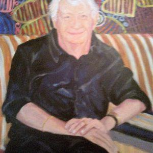 Brian's Portrait, sandra jones portrait painting, Brian's Portrait