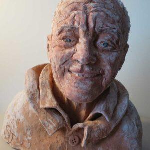 sandra jones commission sculpture of m.duffy