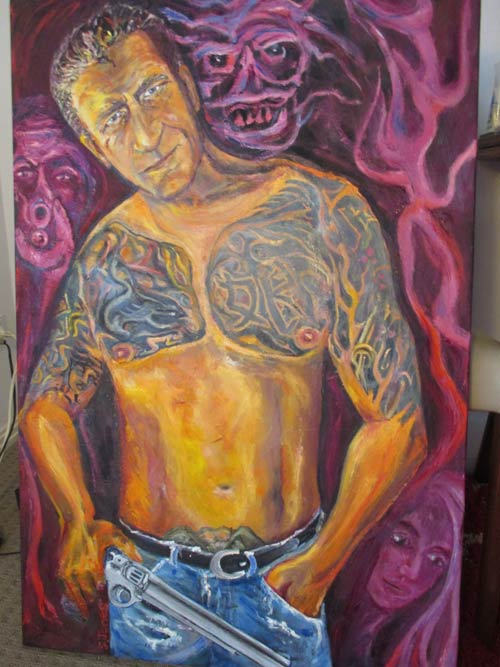 Johnny Boxer commission painting