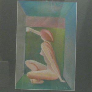 sandra jones artist, studio portrait