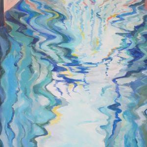sandra jones artist, venice painting