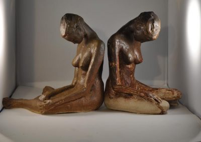 2 Female Figures $250