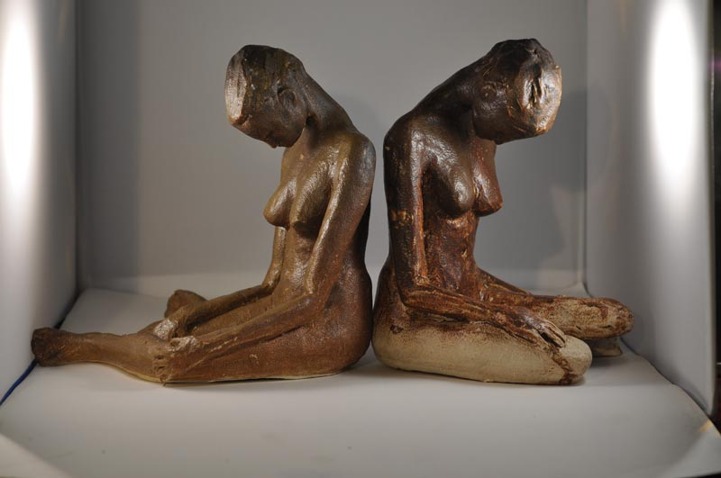 handmade ceramic female figurines for sale