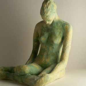 female ceramic figurine, sandra jones ceramics