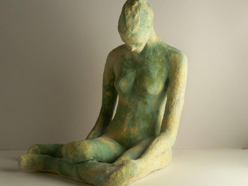 female ceramic figurine, sandra jones ceramics