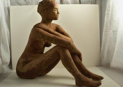 Female Brown Glazed Figure