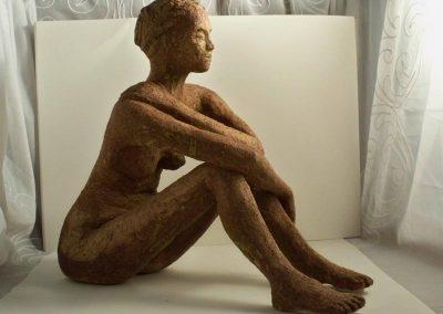 Female Brown Glazed Figure