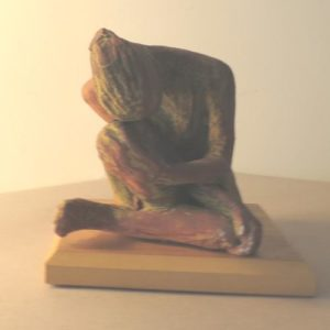 female glazed ceramic figure, sandra jones ceramics