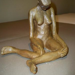 sandra jones gold painted sculpture