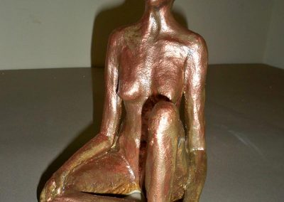 Female Golden Painted Figure