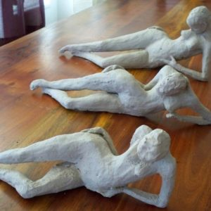 sandra jones sculpture, stoneware figures