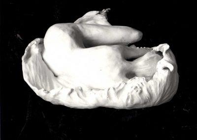Fetus  Stoneware Sculpture