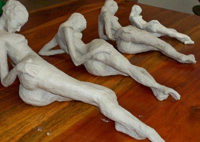 Reclining Figures Stoneware