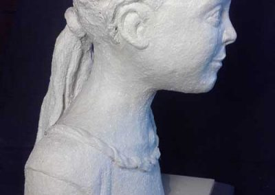 Young Girl Portrait Sculpture