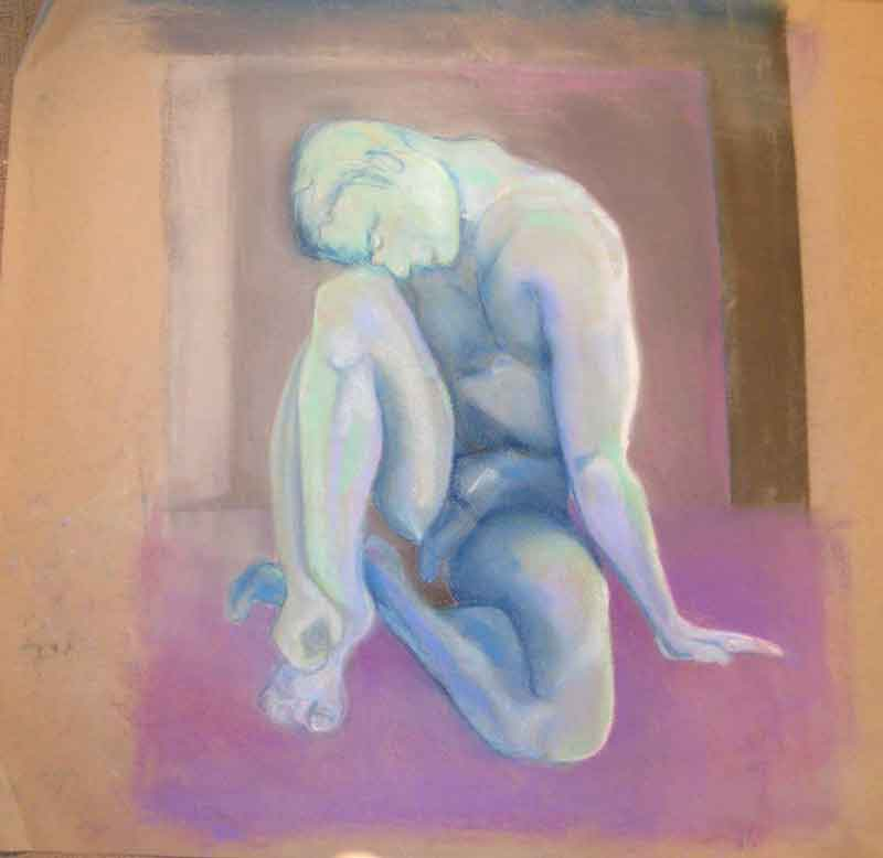 sandra jones artist, pastel male study