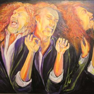 Fire-singer, artist sandra jones painting